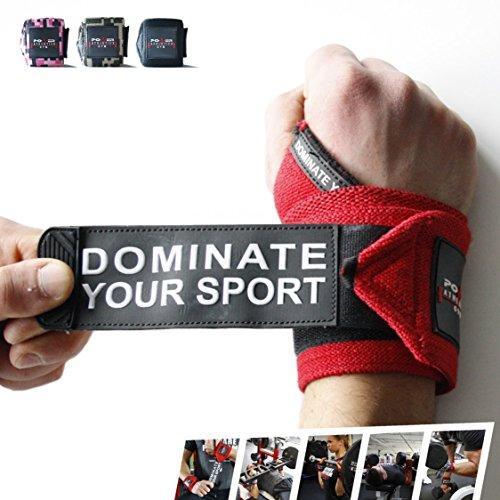 Handgelenkbandage für Athleten [2er Set] 60cm Profi Wrist Wraps für Kraftsport, Krafttraining, Bodybuilding, Powerlifting, Crossfit & Fitness - Für Damen & Herren - mit Videoanleitung
