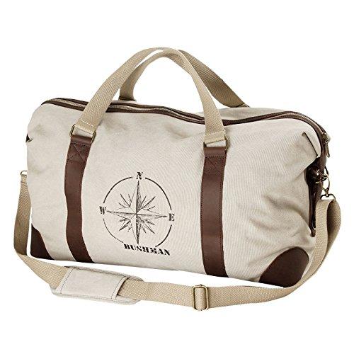 BUSHMAN Outoor Freizeit Camping Tasche Reise-Tasche ETNA Safari-Tasche aus 100% Baumwolle in Khaki Beige
