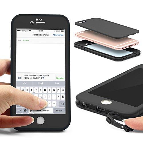 Original Urcover® Touch Case für das Apple iPhone 6 Plus / 6s Plus Hülle Cover Schutz für Vorder- und Rückseite Handyhülle mit Displayschutz [deutscher Fachhandel] Etui Grün/Weiß Schwarz/Schwarz