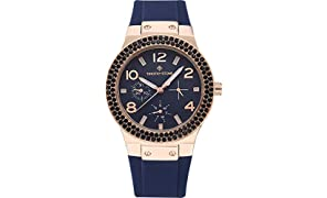 Timothy Stone COLLECTION FAÇON SPORT - Orologio da polso donna, colore Rose Gold/Marino