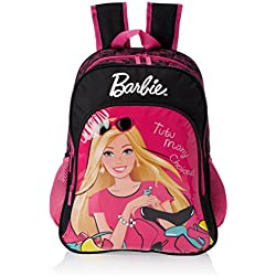 Barbie Pink and Black Children's Backpack (Age group :6-8 yrs)