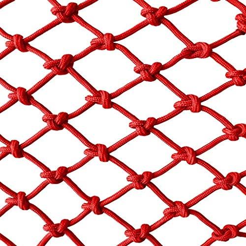 Kinder Haustier Sicherheitsnetz Schutznetz Vogel Seilnetz Balkon Treppe Fallen Net Waren Net Seil Farbe Dekorative Net Nylon Net Zaun Handgewebte Traditionelle Struktur (farbe: Rot) (spezifikation: 10