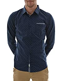 chemise lee cooper dean ml 5102 bleu
