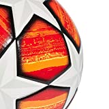 adidas DN8676 Soccer Ball Homme, Top:White/Active Scarlet Red Bottom:Bright Orange/Solar Gold/Black, FR : M (Taille Fabricant : 5)