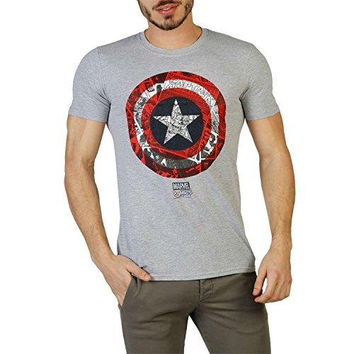 Marvel Ca Comic Shield, Camiseta para Hombre