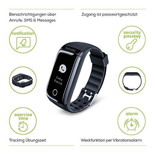 Beurer AS 97 Aktivitätstracker und Fitnessarmband mit Pulsuhr, Aktivitätssensor, Schlafanalyse, Schrittzähler, Bewegungserinnerung und App - 4