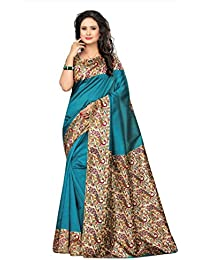 Maxis Designer Women's Kalamkari Mysore Art Silk Sarees With Blouse Piece