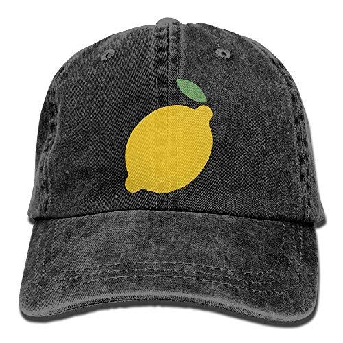 angwenkuanku Unisex Baseball Cap Garn gefärbt Denim Hut Zitrone verstellbare Snapback Cricket Cap wunderschöne 6752