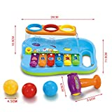 Enlarge toy image: Early Education 1 Year Olds Baby Toy Enlighten Xylophone with 3 Color Balls/Small Hammer for Children & Kids Boys and Girls