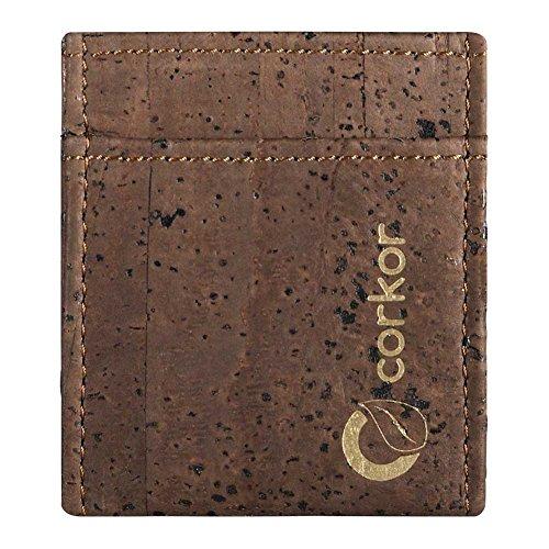Corkor Porte-carte pour homme minimaliste, mince et léger - en liège