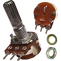 A1K ohm con interruptor SPST 1K ohm A102 único mono logarítmico tronco moleteado estriado eje rotatorio Potenciómetro pote eje: 20 mm