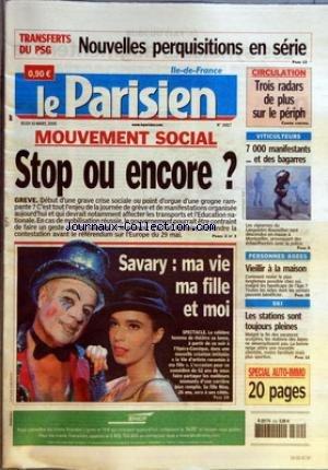 PARISIEN (LE) [No 18817] du 10/03/2005 - TRANSFERTS DU PSG - NOUVELLES PERQUISITIONS EN SERIE - CIRCULATION - TROIS RADARS DE PLUS SUR LE PERIPH - CAHIER CENTRALE - MOUVEMENT SOCIAL - STOP OU ENCORE - GREVE - VITICULTEURS - 7000 MANIFESTANTS... ET DES BAGARRES - SAVARY - MA VIE MA FILLE ET MOI - SPECTACLE - PERSONNES AGEES - VIEILLIR A LA MAISON - SKI - LES STATIONS SONT TOUJOURS PLEINES. par Collectif