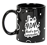 Best Mom Coffee Cups - I'm A Mom. What's your Superpower ? Black Review