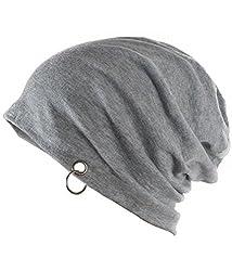 Zacharias Men's Slouchy Beanie (zach-slouchy-beanie-cap-men-Grey_Grey_Free Size)
