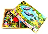 4 Wooden Jigsaw Puzzles (28Pcs Per Puzzl...