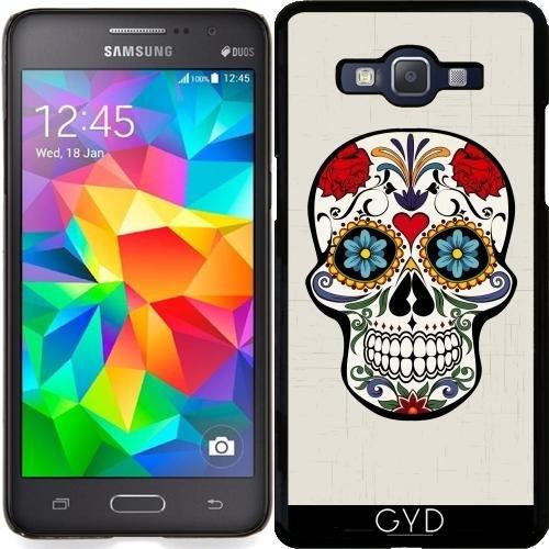 Hülle für Samsung Galaxy Grand Prime (SM-G530) - Schädel Mit Blumen Boho...