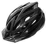 meteor® Fahrradhelm Marven: Erwachsene Unisex & Jugendhelme Rad Helm für Radfahrer Radsport; für Hoverboard, Inline-Skate, BMX Fahrrad, Scooter L 58-61 cm Black