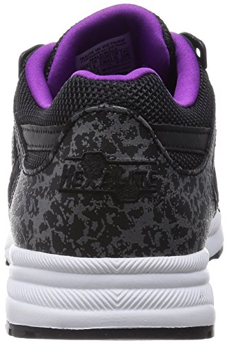 Reebok Ventilator Reflective, Baskets Basses mixte adulte Noir - Schwarz (Black/White/Aubergine)