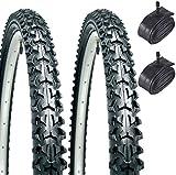 """CST Eiger 26"""" Mountain Bike Tyres (Pair) & 2 x Schrader Inner Tubes"""