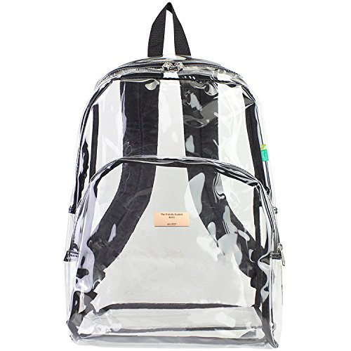 Clear Backpack – TheFriendlyStudent Sac à dos loisir, Transparent (Transparent) – AA-1