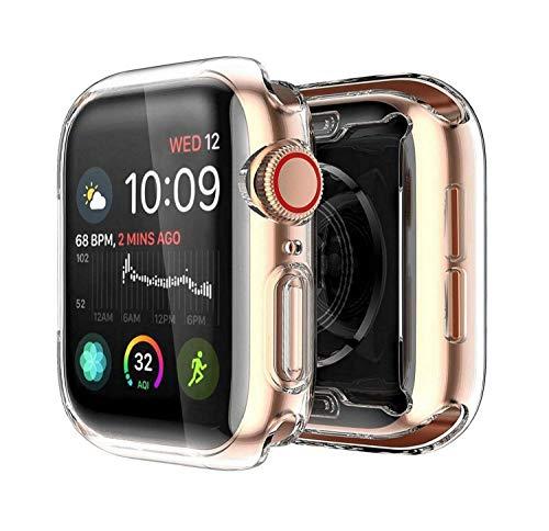 Yolin [2-Pack] Apple Watch Series 5 / Series 4 Schutzhülle, iwatch case Weiche Ultradünne TPU iwatch Displayschutz All-Around Hülle für Apple Watch Series 5 / Series 4 44mm