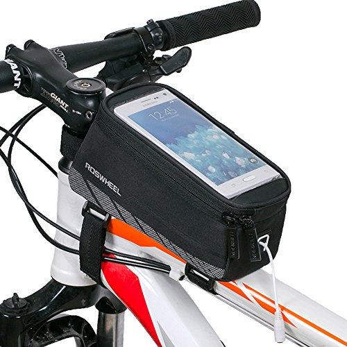 Bestfire Fahrradrahmen-Tasche, Wasserdichte Vordertasche, Lenker-/Rahmentasche, Touchscreen-Handytasche für iPhone 7/7 Plus/6/6s/6 Plus/6s Plus Samsung Galaxy S7/S7 Edge (5,5 Zoll)