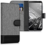 kwmobile Wallet Case for Huawei Honor 7S - Fabric and PU