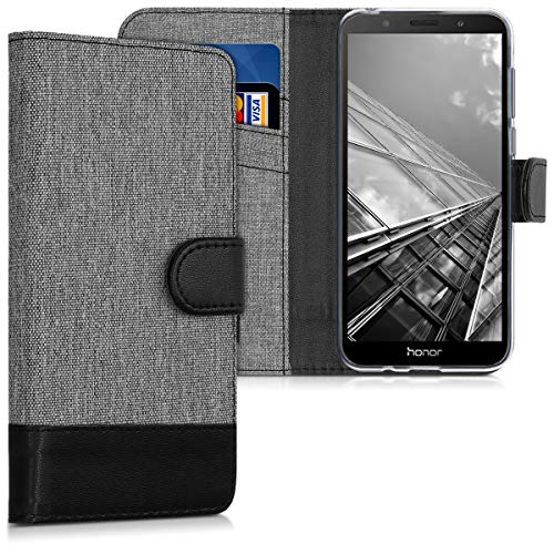kwmobile Huawei Honor 7S Hülle - Kunstleder Wallet Case für Huawei Honor 7S mit Kartenfächern & Stand