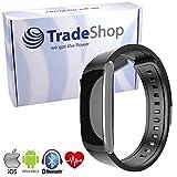 Trade-Shop Touchscreen Smartwatch Fitness Bracelet Bluetooth Sport Armband Uhr Pulsmesser Schrittzähler Kalorienverbrauch Schlafanalyse Aktivitätstracker IP67 Geschützt für Android iPhone iOS mit App