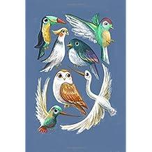 Bird sketchbook: Cute hipster fun 100 page sketchbook
