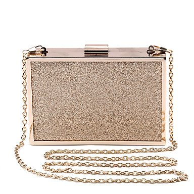 pwne L. In West Frauen Elegante High-Grade Metallic Glitter Abend Tasche Gold