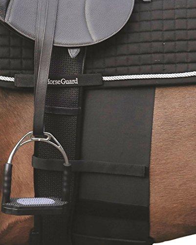 Sporenschutz für das Pferd, elastisch, schwarz, Gr. Warmblut | Horse Sensitive Bandage - Spur Protector