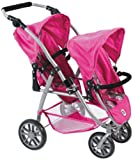 Bayer Chic 2000 689 87 - Tandem-Buggy Vario, hot pink pearls