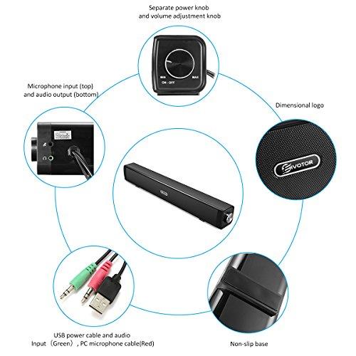 pc lautsprecher eivotor usb lautsprecher computer soundbar usb player box soundsystem f r. Black Bedroom Furniture Sets. Home Design Ideas