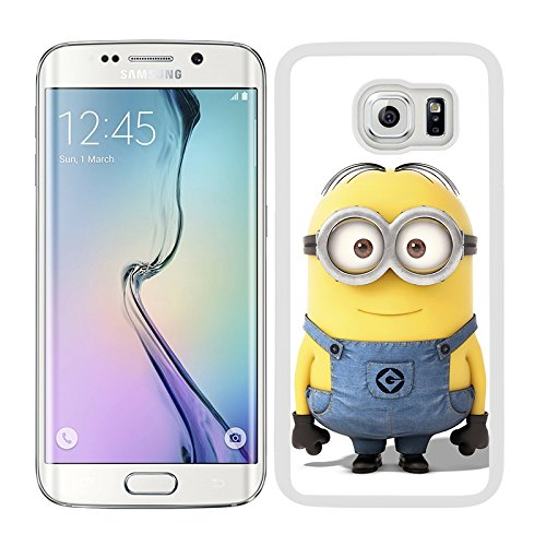 Funda carcasa para Samsung Galaxy S6 Edge Plus dibujo minion borde blanco