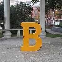 Takefuns - Letras decorativas de madera vintage A-Z; decoración de pared multicolor para el hogar, guardería, tienda, letreros de negocios, nombre, festival, decoración de boda, madera, Letter B, Letter B