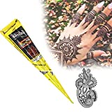 Thunder Light - Pegatina para Tatuaje de Estilo Indio Henna, Color Negro