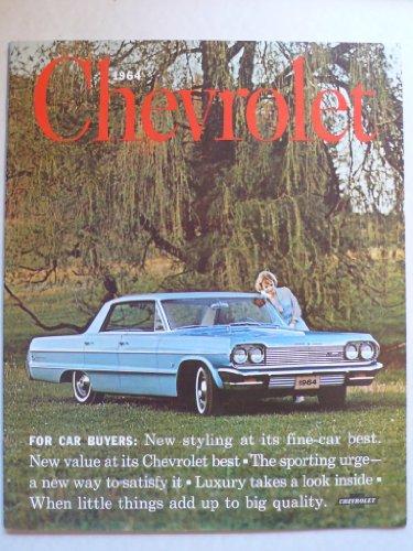 Prospekt/brochure - 1964 Chevrolet Bel Air-, Biscayne-, Impala-Serien, Station Wagons - Original