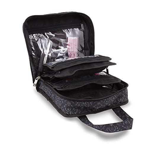 Bitzee Nail Art Storage Bag, Nail Technician Organiser Case in Imperial Black by Roo Beauty