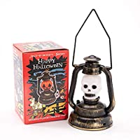 AIOXY Halloween Skull Pattern Lantern LED Lights, Hanging Lights, Halloween Decoration Props, Family Garden Room at Night Halloween Decoration,Ghostheadlight,S