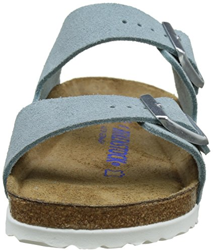 Birkenstock Arizona Leder Softfootbed, Mules Mixte Adulte Bleu clair