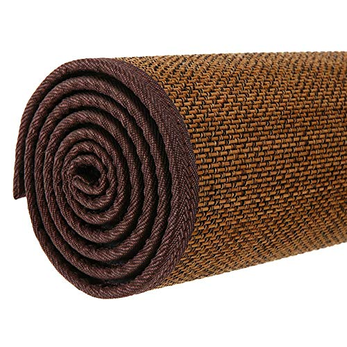 JIAJUAN Fibra Natural Japonés Tradicional Bambú Antideslizante Piso Alfombras Estera Interior Casa Salon Sala Habitación Zona Alfombra (Color : D, Tamaño : 50x100cm)