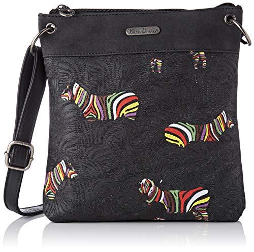 cd070f3583ae Little Marcel Women s QU25-LM-BLACKMessenger Bag Black Black (BLACK BLACK)