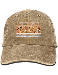 7a01470c15a2c surce Antiguo Egipto Escena Patrón Unisex Deporte Ajustable Béisbol  Estructurado Sombrero de Vaquero Natural