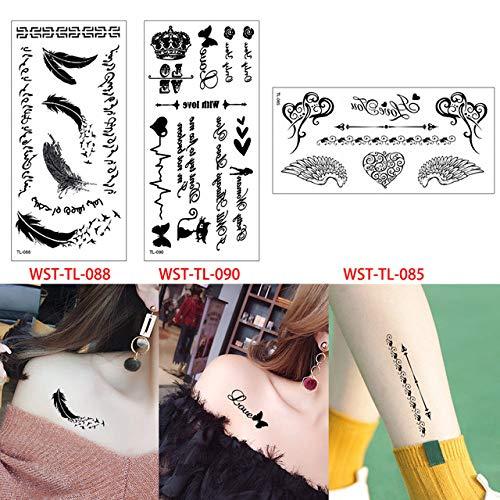 3 Teile/los Cartoon Körper Tattoo Aufkleber Schönheit weiblichen Schmuck Make-up Tattoo Körper Aufkleber Sommer 3 Stücke- (Body Glitter Haar Spray Und)