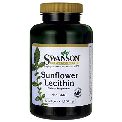 Swanson Sunflower Lecithin (Non-GMO, 1,200mg, 90 Softgels) Test