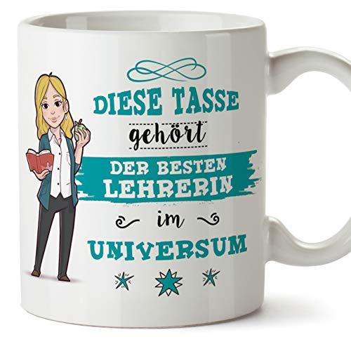 Lehrerin Tasse/Becher/Mug Geschenk Schöne and lustige kaffetasse - Diese Tasse gehört der besten Lehrerin im Universum - Keramik 350 ml