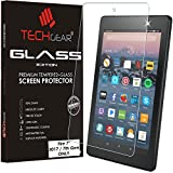 "TECHGEAR� All new Amazon Fire 7"" Alexa Tablet (2017 Edition / 7th Gen) GLASS Edition Genuine Tempered Glass Screen Protector Guard Cover"