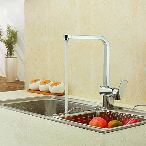Cocina completa 7 campo de cuenca de cobre caliente y frío-caliente y frío360Grifo lavabo con un solo orificio rotaciónCz112D31Día vuelve sin preocupaciones,7 Tubo de