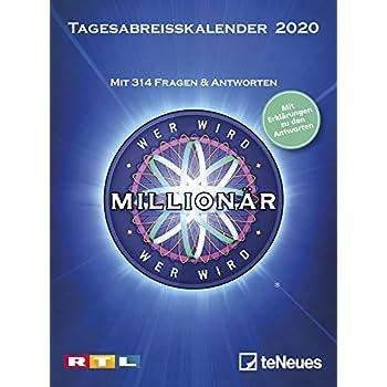 Wer wird Millionär 2020 Tagesabreißkalender: Mit 313 Fragen & Antworten